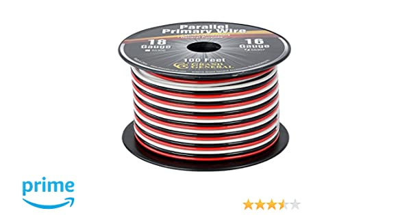 Grand General 55305 Parallel Primary 2-Wire 100ft Roll with Spool For Tru.. New