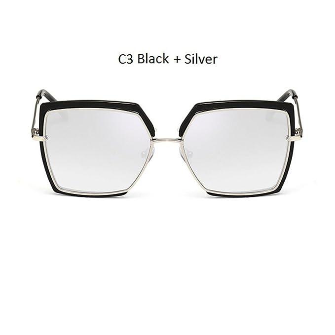 Ojo de Gato Rosa gafas de sol mujer tonos cuadrados hembra ...