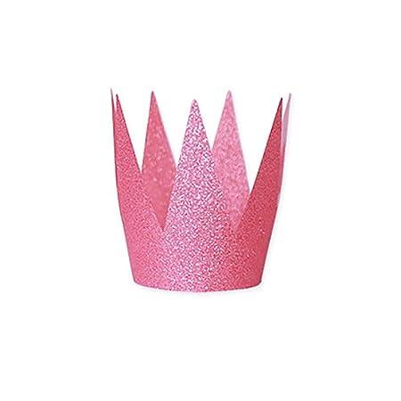 Doubleer - Juego de 6 Sombreros de Corona de cumpleaños con ...