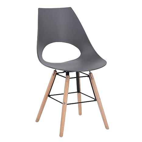 Furnish - Juego de 4 sillas con Asiento de Resina, Silla de ...