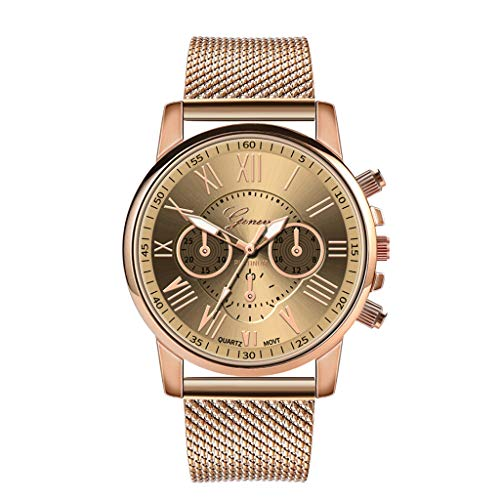 Pocciol Fashion Military Stainless Steel Quartz Watch Womens Casual Watch Luxury Analog Wristwatch (Beige) by Pocciol Cheap-Nice Watch (Image #6)