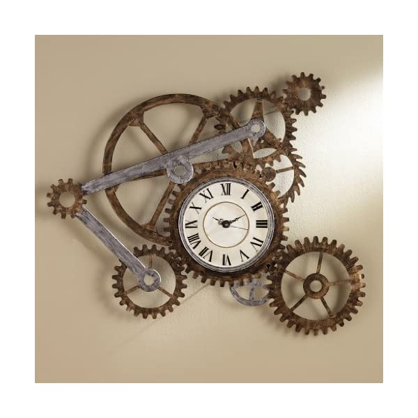 Steampunk Wall Art with Clock 3