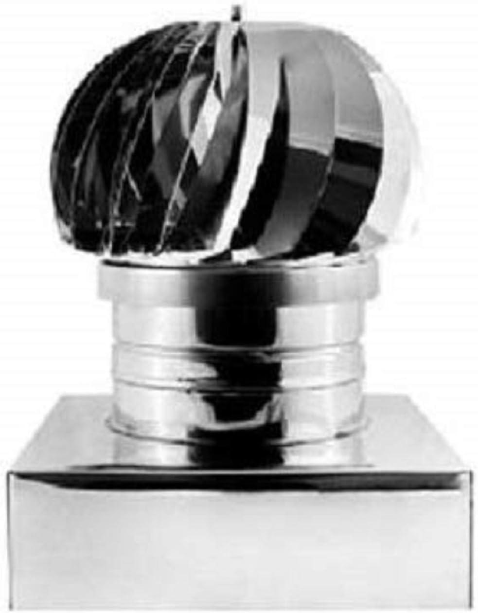 Sombrero giratorio con base cuadrada de acero inoxidable para ...