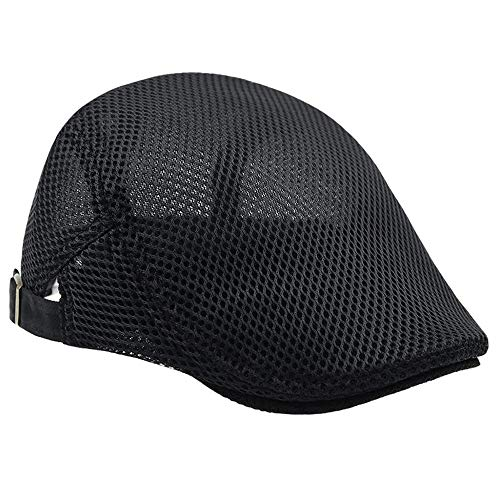 LDDENDP Hat Male Mesh Breathable - Newsboy Apartment Gatsby Ivy Irish Hunting Cap Men's Breathable Mesh Summer Hat Newsboy Beret IVY Turtleneck Tent Flat Casual Beret Sun Hat (5 Colors)