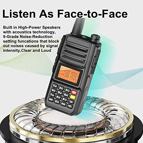 High Power 10W Tri-Band Ham Radio,Portable Long Range Walkie Talkies for Adults,4000mAh Rechargeable Li-ion Battery,200 Channel Two-Way Radios Built-in VOX Amateur Handheld Transceiver with Headset by FEILESS (Image #6)