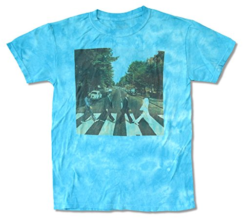 (The Beatles Abbey Road Tie Dye Blue Mens T Shirt (Large))