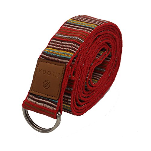 Ziloda Unique 8ft D-Ring Buckle Yoga Strap - Durable - For Stretching and Flexibility - Especially Suitable for Yoga/ Pilates Beginners - 100% Refund Guarantee (No.5)