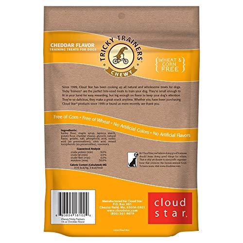 Cloud Star Tricky Trainers Chewy Dog Treats - Whole Grain Soft Training Treats, 14oz Cheddar