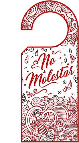 Señaletica Hotel Colgadores Puertas No Molestar Rojo ...