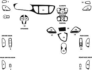 Rdash Dash Kit Decal Trim for Dodge Dart 2013-2016 - Chrome (Red)