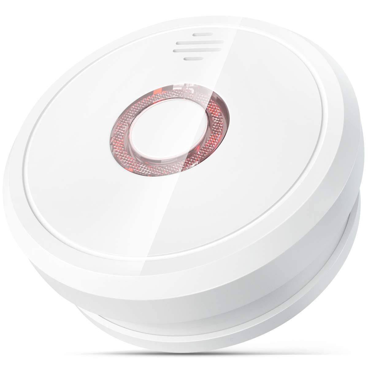 Detector de Humo, Isafenest Alarma de Humo con Certificación CE/EN 14604/TÜV Sensor Fotoeléctrico Independiente Voz de 85 dB
