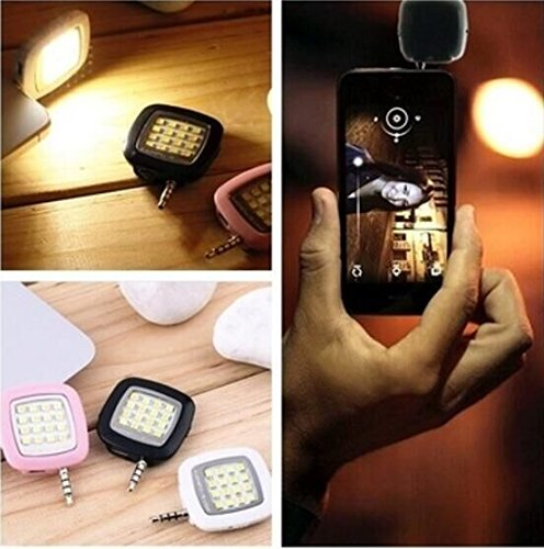DrhobMini Portable Smart LED Camera Fill-in Flash Selfie Light For Cellphone SW(Color:random/SIZE:38mmx38mmx10mm,)