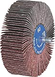 PFERD 45411 Quick-Change Flap Wheel, Aluminum Oxide A, 2-1/2'' Diameter x 1/2'' Length, 1/4'' Shank, 80 Grit, 1/4-20 Thread, 23000 Max RPM (Pack of 10)