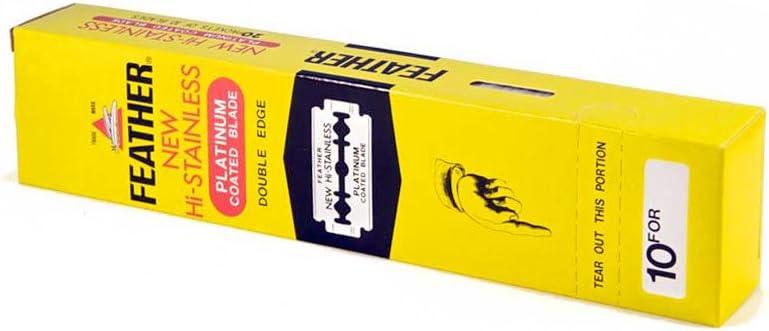The Goodfellas 'Smile 100Double Edge Razor Blades Feather New Hi Stainless