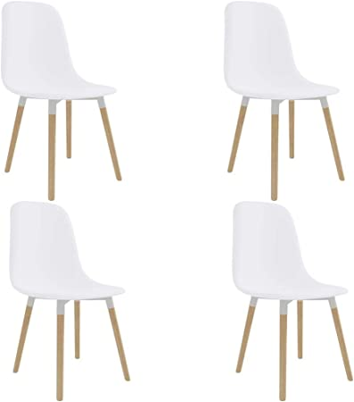Sedie Moderne In Plastica.Festnight Set 2 4 6 Pz Sedie Sala Da Pranzo Moderne In Plastica