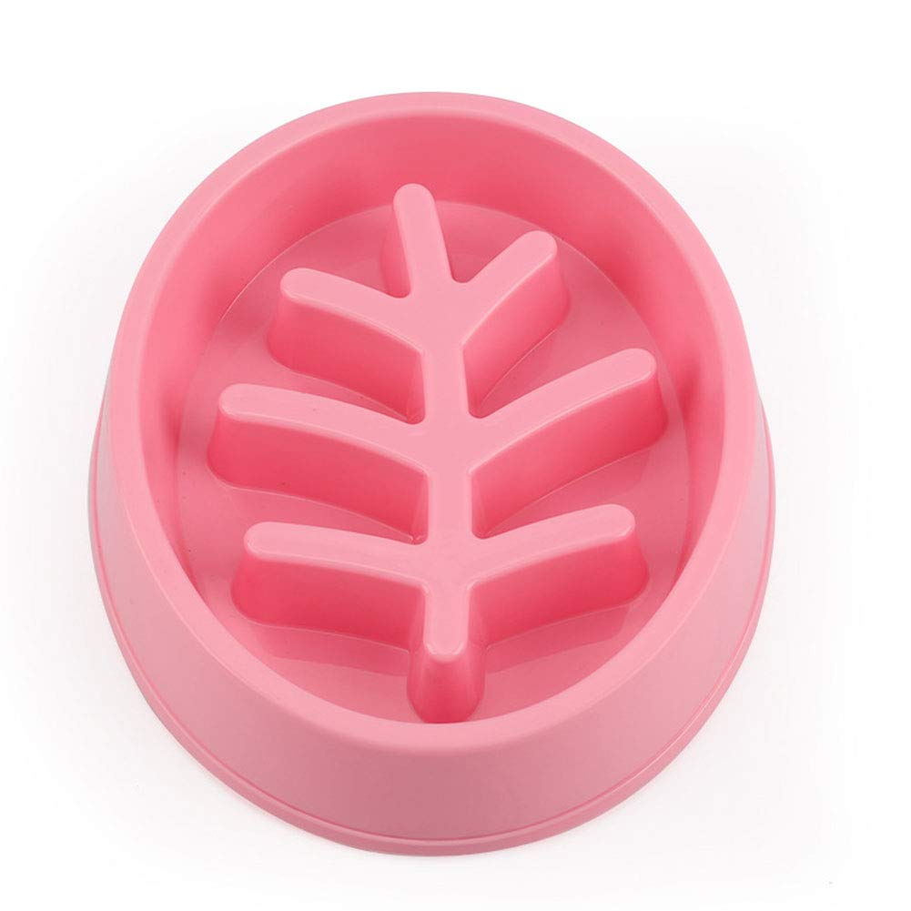 WQING Slow Feeder Dog Bowl New Arriving Fun Feeder Slow Feeding Interactive Bloat Stop Dog Bowls,Pink by WQING