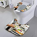 Jiahonghome Universal Toilet seat People Group Cater Buffet Food Indoor in Restaurant with Meat Fruits and Cushion Non-Slip