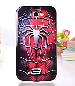 Big Mango Young and Fashion Series Cute Protective Shell Combo Back Case Cover for Samsung Galaxy Note 2 Note II N7100 ( Spider Web )
