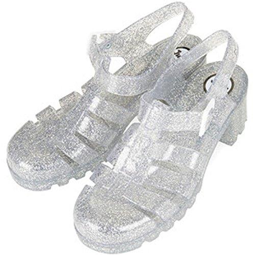 Topshop - Sandalias de vestir de Caucho para mujer transparente