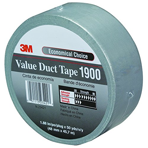 """T98719003PK Duct Tape, 2"""" x 50 yd, Silver"""