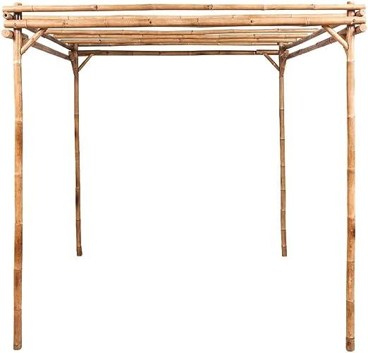 vidaXL Pérgola de Jardín Madera de Bambú Marrón 195x195x195 cm ...