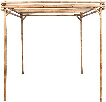 vidaXL Pérgola de Jardín Madera de Bambú Marrón 195x195x195 cm Cenador Patio: Amazon.es: Jardín