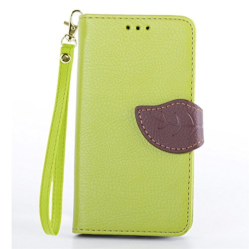 Moto G 1st Case,IVY Green - Leaves Magnetic Snap Series Wallet Card Flip Synthetic Holster Leather Stand With Lanyard Case Cover Skin For Motorola Moto G 1st Gen (XT1045 / XT1032 / XT1033)