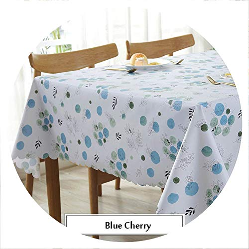God of Fortune Pastoral Tablecloths Cherry Oilproof Table Cloth Dustproof PVC Tablecloth Background Cloth Home Decor Manteles Toalha De Mesa,Pattern 1,135x200cm