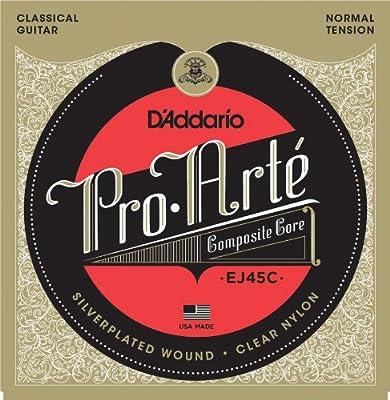 D'Addario EJ45C Pro-Arte Composite Classical Guitar Strings, Normal Tension from D'Addario &Co. Inc