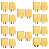 Artrinck 10 Pairs/20 pcs xt60 connector XT-60 60A/100A Male Female Bullet Connectors Plugs For RC Lipo Battery