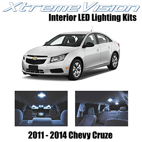 XtremeVision Interior LED for Chevy Cruze 2011-2014 (12 Pieces) Cool White Interior LED Kit + Installation Tool
