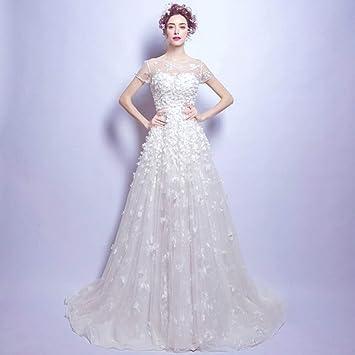 YT-RE Vestido de Novia Romántico Vestido de Hadas de Flores Sexy de Encaje Vestido