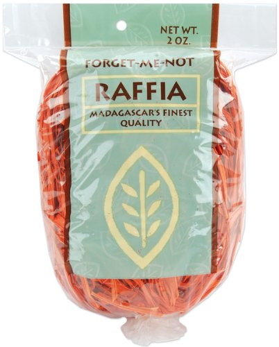 Dyed Raffia 2 Ounces-Orange Case Pack 6