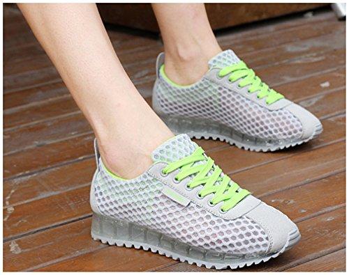 transpirables del de mujeres Zapatillas que caminan calzan deportivas zapatillas deporte verano de las las NEWZCERS gris qaEtHww