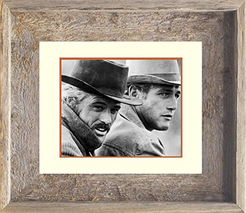14x17 Real Old Barnwood Framed Print Butch Cassidy and The Sundance Kid Photo Face (Real Butch Cassidy And The Sundance Kid Photos)