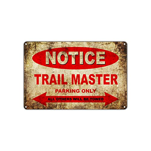 TRAIL MASTER Motorcycles Bikes Only All Others Will Be Towed Parking Sign Vintage Retro Metal Decor Art Shop Man Cave Bar Aluminum 12