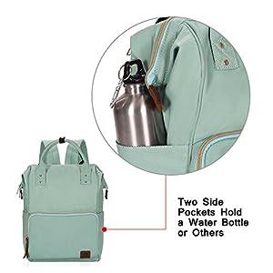 Veegul Wide Open Multipurpose School Backpack Lightweight Travel Bag 18L Mint Green