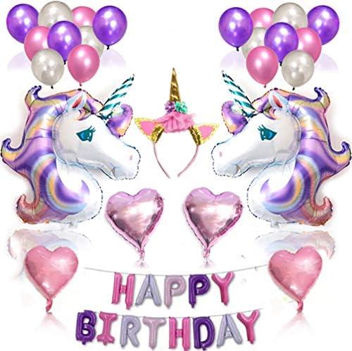 Amazon.com: Unicornio cumpleaños globos unicornio fiesta ...