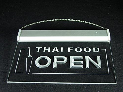 Thai Food Thailand Restaurant Cuisine Shop Led Light Sign by DIDIGO