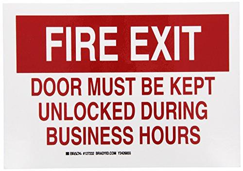Brady 127232 Fire Safety Sign, Legend