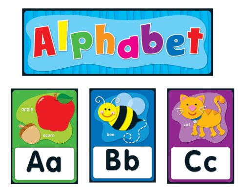 Carson Dellosa Alphabet Bulletin Board Set (119004) (Abc Bulletin Board compare prices)