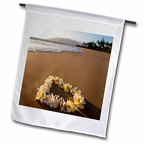 3dRose Danita Delimont - Beaches - USA, Hawaii, Maui, Lie on Kihei Beach with Reflections in Sand - 18 x 27 inch Garden Flag (fl_259255_2) (Reflections Sand)