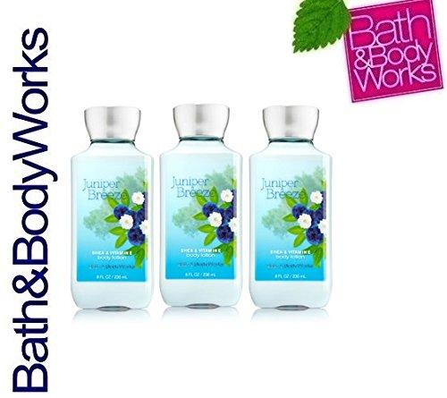 Lot of 3 Bath & Body Works Juniper Breeze Body Lotion (Juniper Breeze) ()