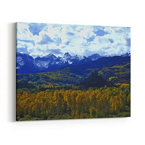 - Rosenberry Rooms Canvas Wall Art Prints - Autumn Colors in The Sneffels Mountain Range, Dallas Divide, San Juan National Forest, Colorado (10 x 8 inches)