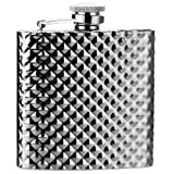 Savage 6oz Stainless Steel Engraving Pattern Hip Flask Rmf-03 Mirror Finished