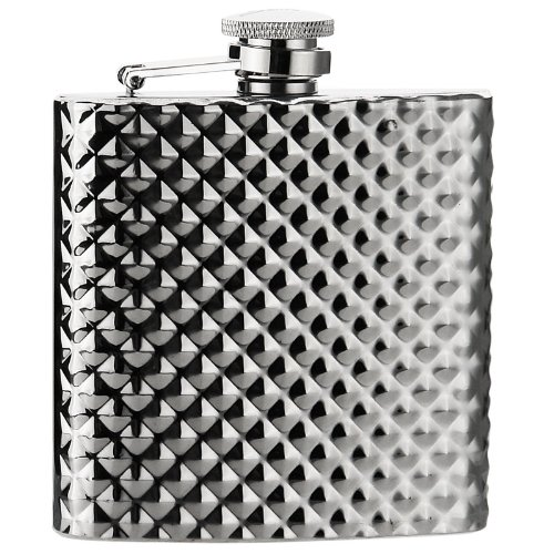 Savage 6oz Stainless Steel Engraving Pattern Hip Flask Rmf-03 Mirror Finished by Savage