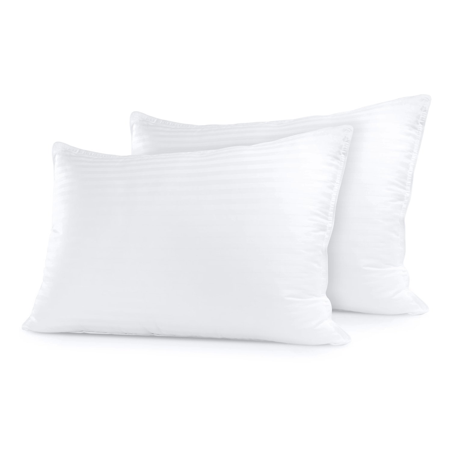 Sleep Restoration Gel Pillow - (2 Pack Queen) Best Hotel Quality Comfortable & Plush Cooling Gel Fiber Filled Pillow - Dust Mite Resistant sleep pillows Sleep pillows review – buying guide and review for sleep pillows 51ZN8M67hUL