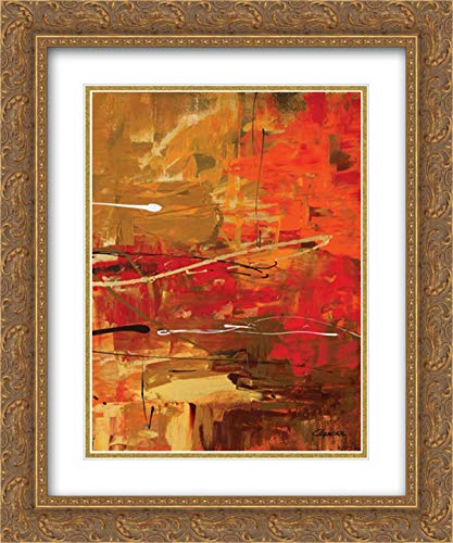 Funtastic III 15x18 Gold Ornate Frame and Double Matted Art Print by Guedez, Carmen