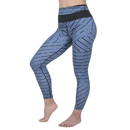 Pantalones Deportivos Mujer Yoga Leggings de Alta Cintura ...