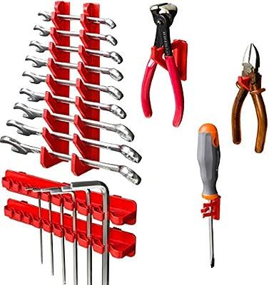 Werkzeughalterungen 44 stck Lagersystem Wandregal 1152 x 780 mm Stapelboxen
